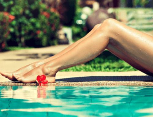 Депиляция волос на ногах до колена и полностью
