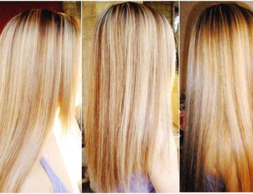 Милирование волос  по всей голове